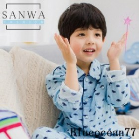 パジャマ キッズ 夏 パジャマセット韓國風 男の子 140cm ルームウェア 子供服 上下セット 110cm 150cm 前開き