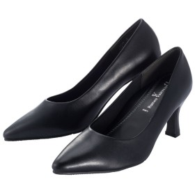 Ranan ブラックフォーマルパンプス ブラック 25.0cm レディース 5,000円(税抜)以上購入で送料無料 パンプス 夏 レディースファッション アパレル 通販 大きいサイズ コーデ 安い おしゃれ お洒落 20代 30代 40代 50代 女性 靴 シューズ
