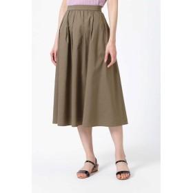 NATURAL BEAUTY ツイルミディ丈スカート