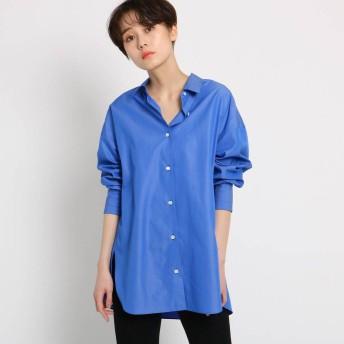 ドレステリア DRESSTERIOR 【洗える】ポプリンシャンブレービッグシャツ (ブルー)
