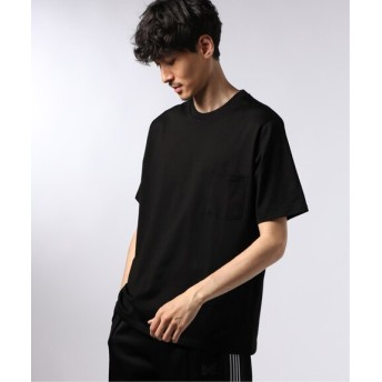 EDIFICE シルケットテンジク ワイド ポケット Tシャツ ブラック L