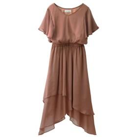 ミエリインヴァリアント Airy Layered Dress レディース ブラウン F(フリーサイズ) 【MIELIINVARIANT】