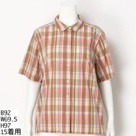 [マルイ]【セール】【13号-19号】マドラスシャツ【大きいサイズレディース】/グリーンノート(大きいサイズ)(greennout)