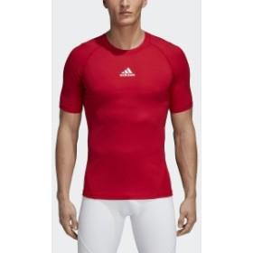 アディダス サッカー インナーシャツ ALPHASKIN TEAM ショートスリーブシャツ EVN56 CW9519 メンズ パワーレッド