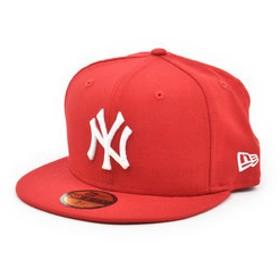 【Super Sports XEBIO & mall店:帽子】59FIFTY MLB ニューヨーク・ヤンキース スカーレット×ホワイト 11308546