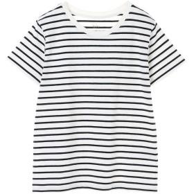 【6,000円(税込)以上のお買物で全国送料無料。】ボーダークルーネックTシャツ
