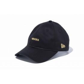 【ニューエラ公式】 9THIRTY クロスストラップ NEW ERA ミニロゴ ブラック × ゴールド メンズ レディース 56.8 - 60.6cm キャップ 帽子 12026718 NEW ERA