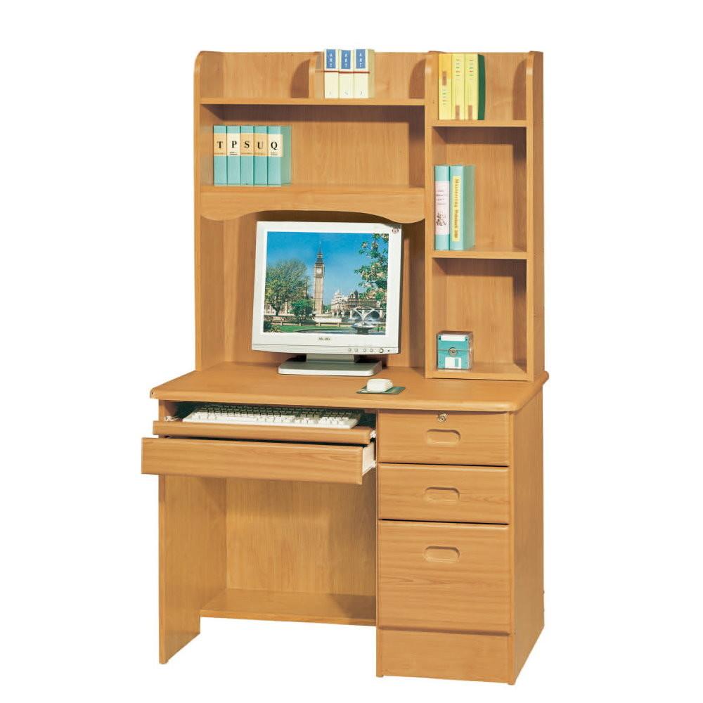 muna赤陽色3.5尺電腦桌(全組)