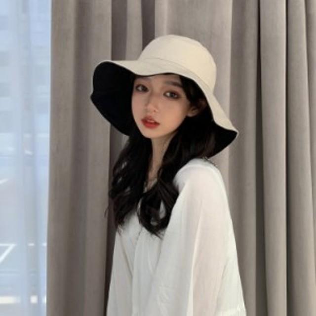 帽子 つば広帽子 つば広 ハット 両面 折れる 紐付き レディース UVカット サンバイザー 紫外線対策 大きさ調節可 新作