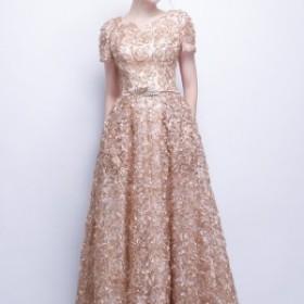 結婚式 パーティードレス 袖あり 大きいサイズ ロング パーティードレス 大きいサイズ 結婚式 體型カバー