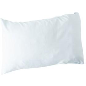 枕カバー(綿100%シワになりにくい加工) - セシール ■カラー:ミストブルー アイボリホワイト ■サイズ:L(85×45cm)