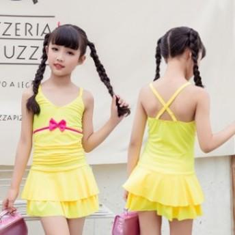 子供 水著 ワンピース水著 サロペット キッズ 水著 女の子 スイムウェア フリル 可愛い 子供 こども ジュニア 女児 女子