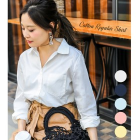 Fashion Letter FASHIONLETTER コットン レギュラーカラーシャツ