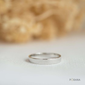 14Kゴールドシンプルな古典的なリング, 3mm ワイド, スタッキングリング, 結婚指輪, 純金