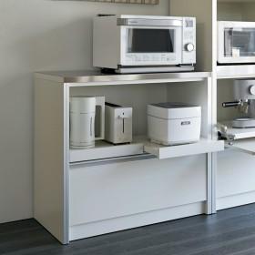 ContrnoII コントルノ キッチン収納シリーズ キッチンカウンター 幅90.5cmシルバー