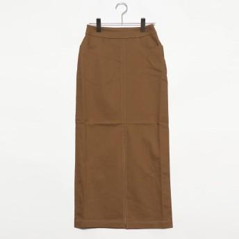 ラナン Ranan チノライクロングタイトスカート (BE)