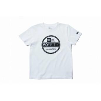 ニューエラ(NEW ERA) Kid's コットン Tシャツ バイザーステッカー ホワイト × ブラック キッズ 11901431