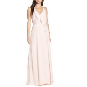 ワイフ レディース ワンピース トップス WAYF Jamie Ruffle Wrap Gown Ballet Pink