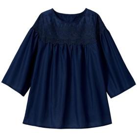 40%OFF【レディース大きいサイズ】 刺しゅうシャツチュニック - セシール ■カラー:ネイビー ■サイズ:LL,3L,5L,L
