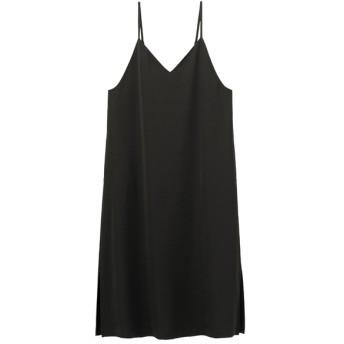 (GU)キャミソールワンピースNC BLACK S