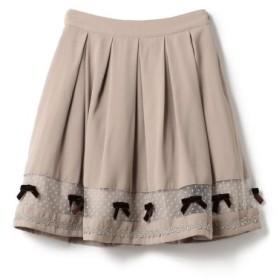(LODISPOTTO/ロディスポット)For you Ribbonスカート/mille fille closet/レディース モカ 送料無料