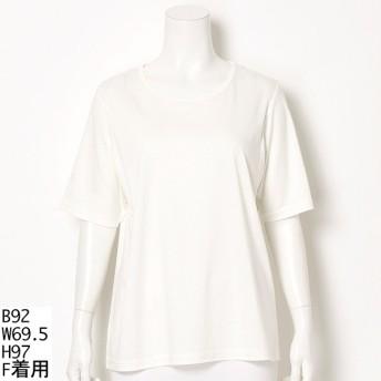 [マルイ]【セール】【大きいサイズ】シンプル無地 Tシャツ/ラクープ(LACOUPE)