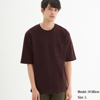 (GU)ポンチクルーネックT(5分袖) WINE XS