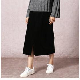【COMME CA:スカート】ストレッチコーデュロイタイトスカート