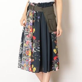 [マルイ]【セール】ミリタリーポケット ベルト付スカート [ドイツ転写プリント]/ドールアップ ウップス(doll up oops)