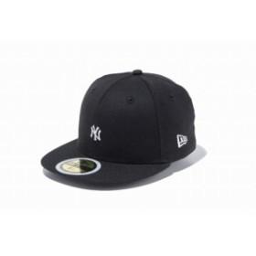 ニューエラ(NEW ERA) Kid's 59FIFTY MLB ミニロゴ ニューヨーク・ヤンキース ブラック × スノーホワイト キッズ 11899086