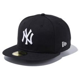 【Super Sports XEBIO & mall店:帽子】59FIFTY MLB ニューヨーク・ヤンキース ブラックxホワイト 11308564 メンズ 帽子 キャップ