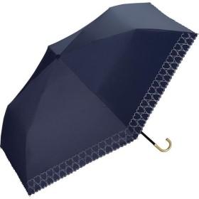 晴雨兼用折りたたみ傘 遮光 ハートヒートカット 傘袋付き ネイビー