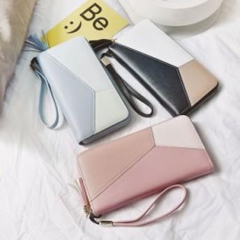 レディース 財布 長財布 二つ折り 大容量 カード入れ 手提げ PU ジッパー財布 小銭収納 プレゼント 使いやすい 韓流 新作