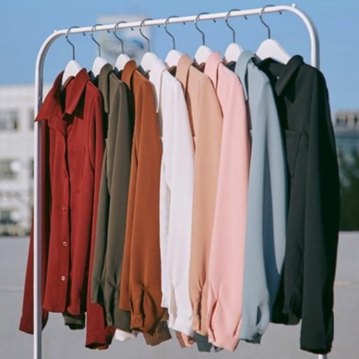 秋裝新款韓版百搭合身顯瘦打底衫上衣白色雪紡長袖襯衫