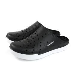 GOOD YEAR 固特異 懶人鞋 洞洞鞋 前包後空 黑色 男鞋 GAMS73800 no039