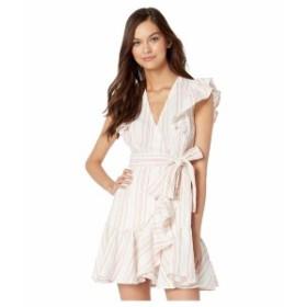 レベッカテイラー レディース ワンピース トップス Sleeveless Stripe Wrap Dress Snow