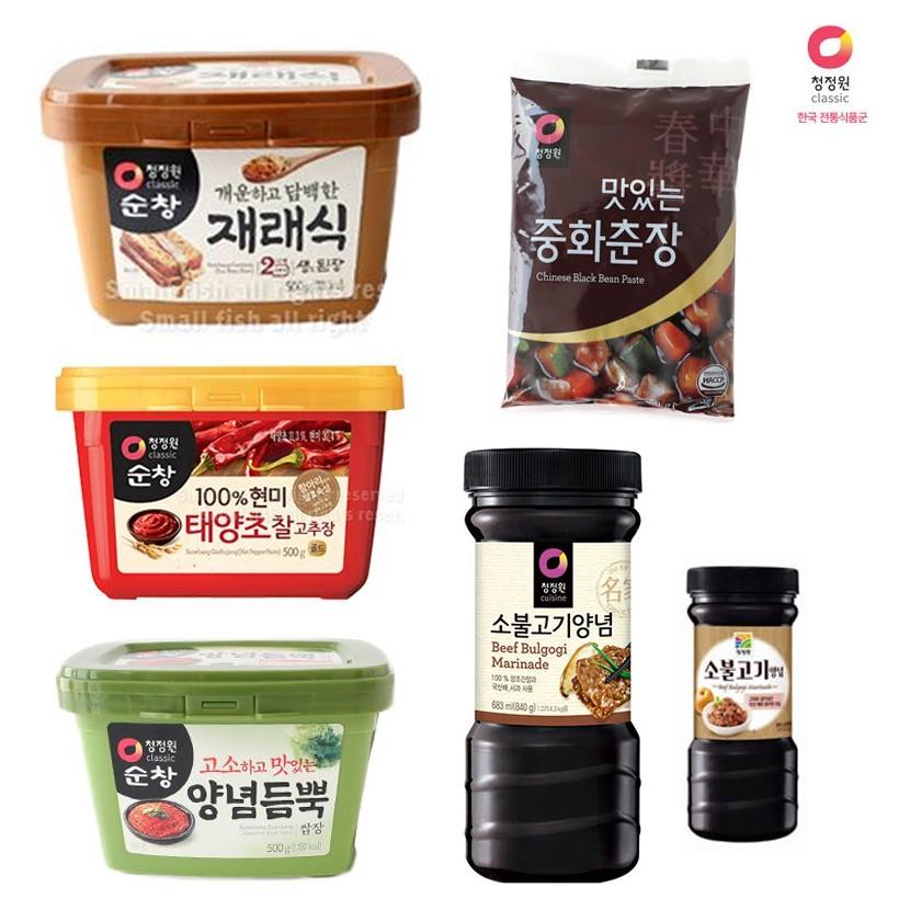 ☞ 商品特色 ☜ 韓國大象系列商品!拌飯、拌麵的最佳的調味品☞ 商品規格 ☜ 商品內容物/規格:韓式黑麵醬 250g辣椒醬 500g蔬菜醬 500g黃豆醬(味噌) 500g醃烤調味醬 (原味) 840