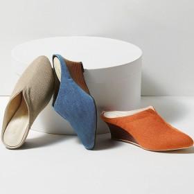 Ranan 幅広ゆったりウェッジミュール オレンジ 23.5cm レディース 5,000円(税抜)以上購入で送料無料 サンダル 夏 レディースファッション アパレル 通販 大きいサイズ コーデ 安い おしゃれ お洒落 20代 30代 40代 50代 女性 靴 シューズ
