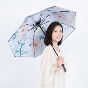 傘 日傘 晴雨兼用 撥水加工 折畳み UVカット 紫外線対策 遮光性 遮蔽率 耐風骨 花柄 可愛い 持ち歩き便利 新作