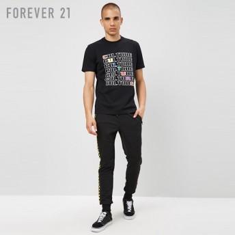 FOREVER21 フォーエバー21 【[MEN]カラフルCultureロゴTシャツ】(5,000円以上購入で送料無料)