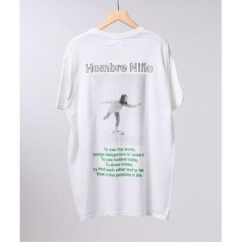 EDIFICE LIFE×Hombre Nino フロントロゴ Tシャツ ホワイト S