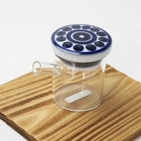 醤油さし 液だれしない インディコ・小 ガラスのボディ 陶器(波佐見焼)の注ぎ口 クリアポット