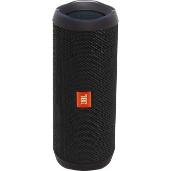 JBL Flip 4 ポータブル Bluetooth スピーカー (ブラック)