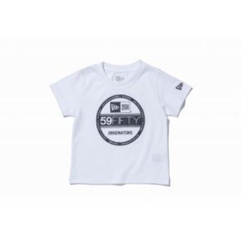 ニューエラ(NEW ERA) Child コットン Tシャツ バイザーステッカーロゴ ホワイト キッズ 11566703