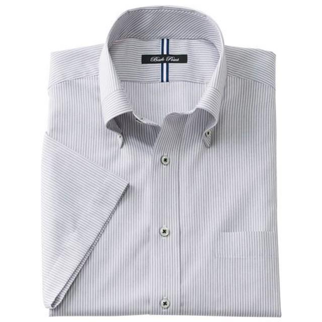 【メンズ】 形態安定デザインYシャツ(半袖) - セシール ■カラー:グレー系 ■サイズ:5L,M,L