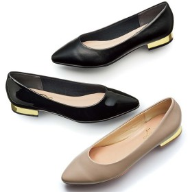 GeeRA ヒールポイントパンプス ブラック レディース 5,000円(税抜)以上購入で送料無料 パンプス 夏 レディースファッション アパレル 通販 大きいサイズ コーデ 安い おしゃれ お洒落 20代 30代 40代 50代 女性 靴 シューズ