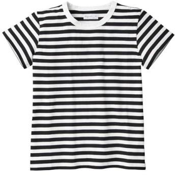 アニエスベー J008 TS ボーダーTシャツ レディース ブラック 3 【agnes b.】