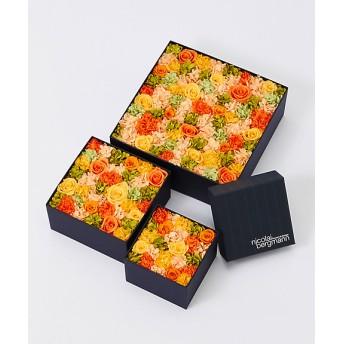 <NICOLAI BERGMANN FLOWERS & DESIGN/ニコライ バーグマン フラワーズ アンド デザイン> 【伊勢丹オンラインストア限定】プリザーブドフラワーボックス(オレンジ) オレンジ 【三越・伊勢丹/公式】
