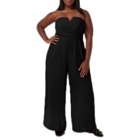 マレプアトイ レディース ワンピース トップス Mare Pour Toi The Magic Strapless Jumpsuit (Plus Size) Black