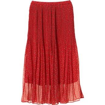 【6,000円(税込)以上のお買物で全国送料無料。】シフォンプリーツロングスカート